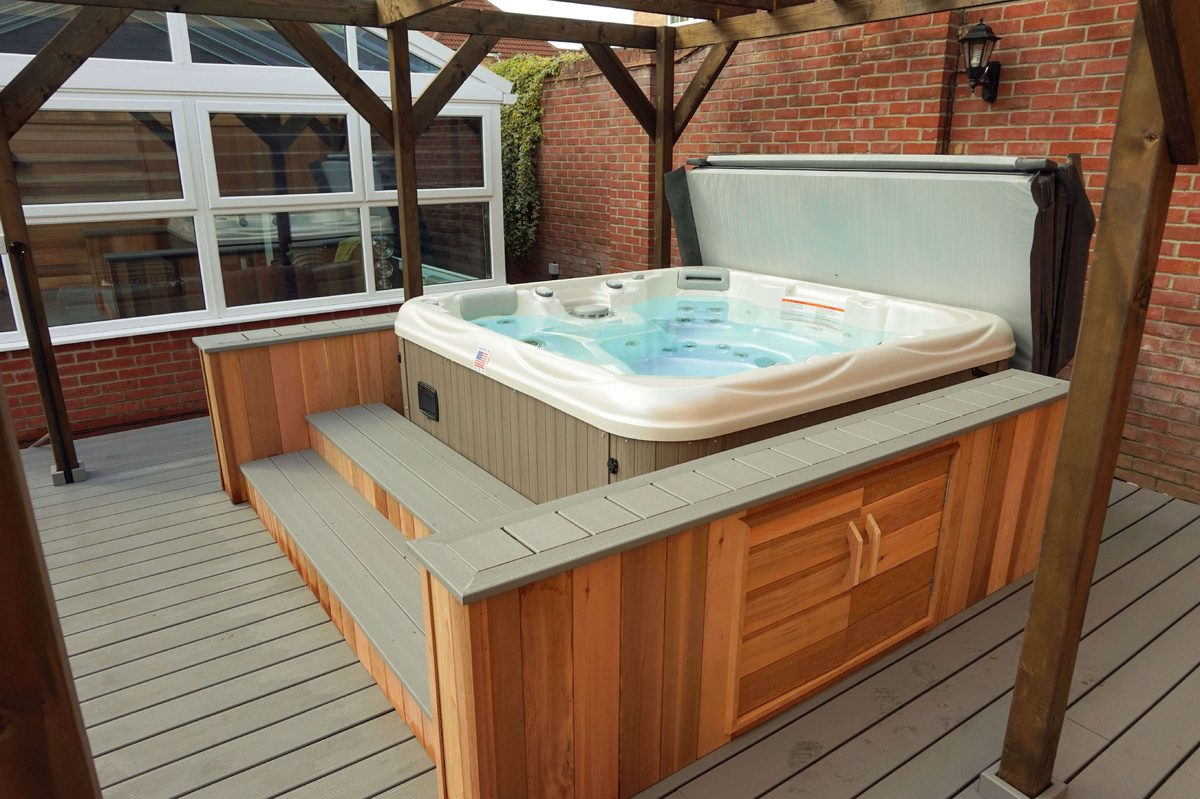 Jetted Backyard Hot Tub