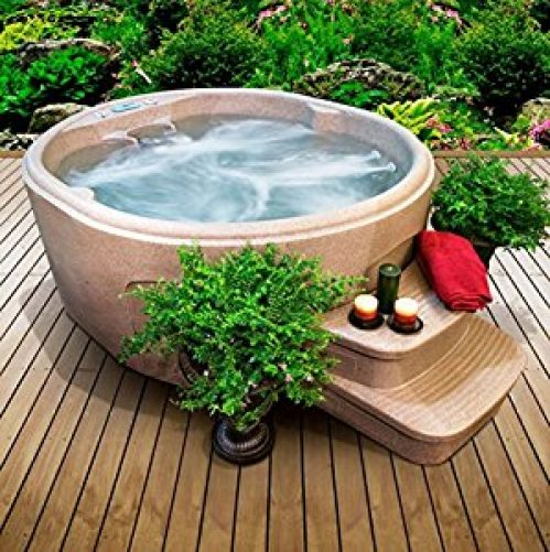 Day Spas-Premium® Hot Tub 4-Person 12-Jet Rock Solid Luna Plug and Play Spa- Pamper yourself in relaxing heated water surrounded...