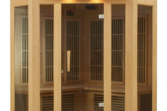 Best Saunas: DYNAMIC SAUNAS AMZ-MX-K356-01 Maxxus Reims 3-Person Corner Far Infrared Sauna