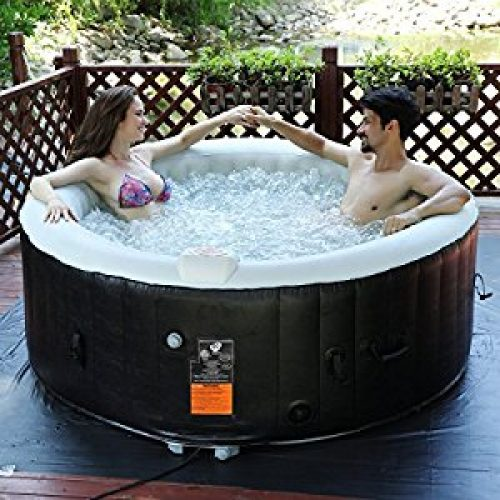 Goplus 4 Person Portable Inflatable Hot Tub for Outdoor Jets Bubble Massage Spa Relaxing w/ Cover & Accessories Filter Cartridge...