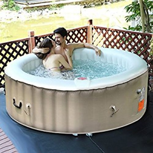 Goplus 6 Person Portable Inflatable Hot Tub for Outdoor Jets Bubble Massage Spa Relaxing w/ Cover & Filter Cartridge Accessories...