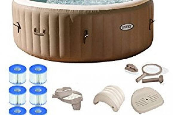Outdoor Hot Tubs Deals: Intex Pure Spa 4-Person Inflatable Portable Hot Tub Ultimate Bundle Package