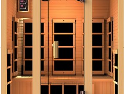 Best Saunas: JNH Lifestyles Joyous 3 Person Canadian Hemlock Wood 8 Carbon Fiber Heaters 5 Year Warranty