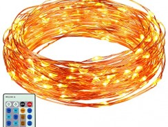 Best Swimming Pools: ORIA String Lights, 100 LED Copper Wire String Light, 33 ft Long with 3 Modes Brightness, Dimmable with Remote Control Lights, Waterproof Decoration Lights for Home, Bedroom, Wedding, Christmas, etc