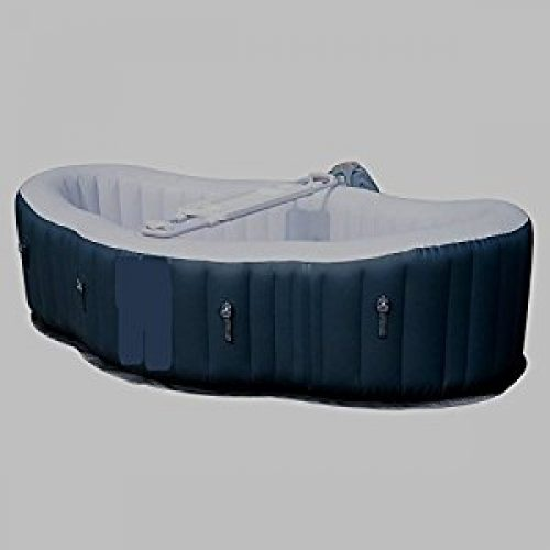 Outdoor Portable Massage Hot Tub 2 Person Water Pool Floats Digital Spa Inflatable Bubble Jet Therapy 8' x 5' x...