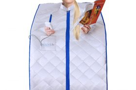 Best Saunas: SereneLife Portable Infrared Home Spa | One Person Sauna for Detox & Weight Loss