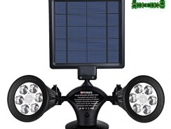 Best Hot Tubs Deals! Real User Reviews: Solar Spotlight, OPERNEE Upgraded Motion Sensor Solar lights 12 LED 600LM Solar Powered Dual head Outdoor Security Lights for Patio Porch Deck Yard Garden Garage Driveway Outsides Wall