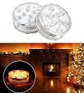 Submersible Led Lights, iTobest 2 Pack Waterproof Lights, Remote Controlled, Battery Powered,...