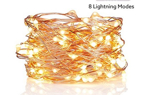 Best Swimming Pools: USB LED Fairy String Lights ,100 LEDs, 33ft/10m Copper Wire String light, 8 Lightning Modes,USB Power Plug Decorative light for Bedroom, Yard, Parties, Wedding, Christmas Decoration(warm yellow)